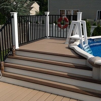 above ground pool steps wood by decks com deck idea pictures - Above Ground Pool Steps Wood