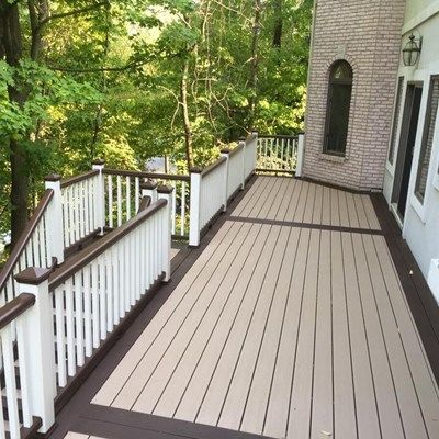 Deck idea pictures for Cost of composite decking vs pressure treated