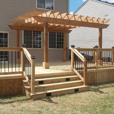 Cedar Deck Amp Pergola Picture 3637 Decks Com