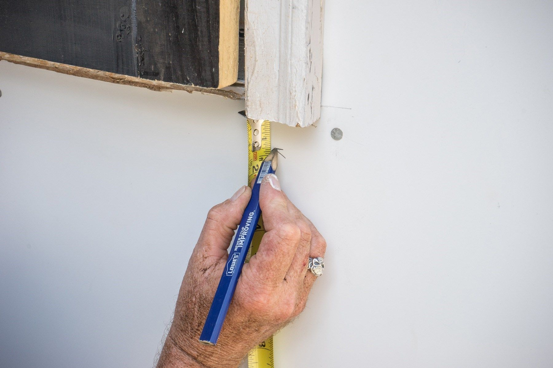 Mark Below The Door Casing
