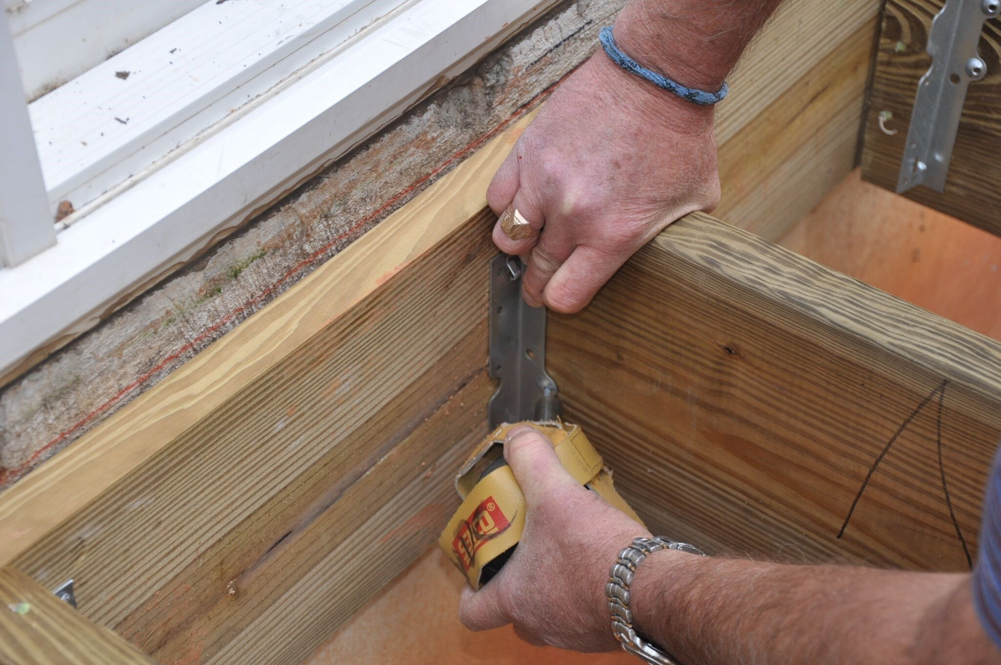 always fill all the nail holes for deck harware