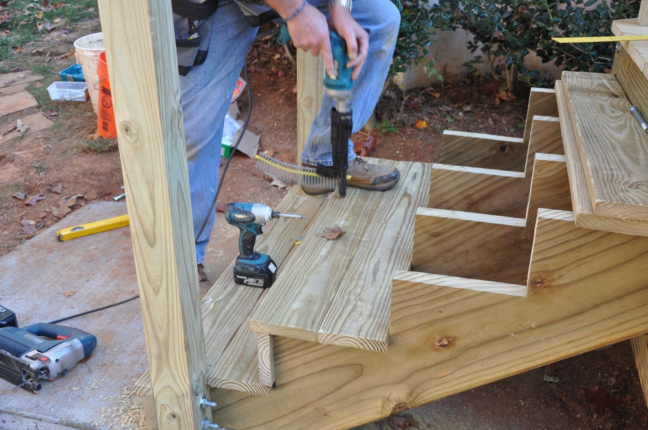 Deck Stair Stringer Layout