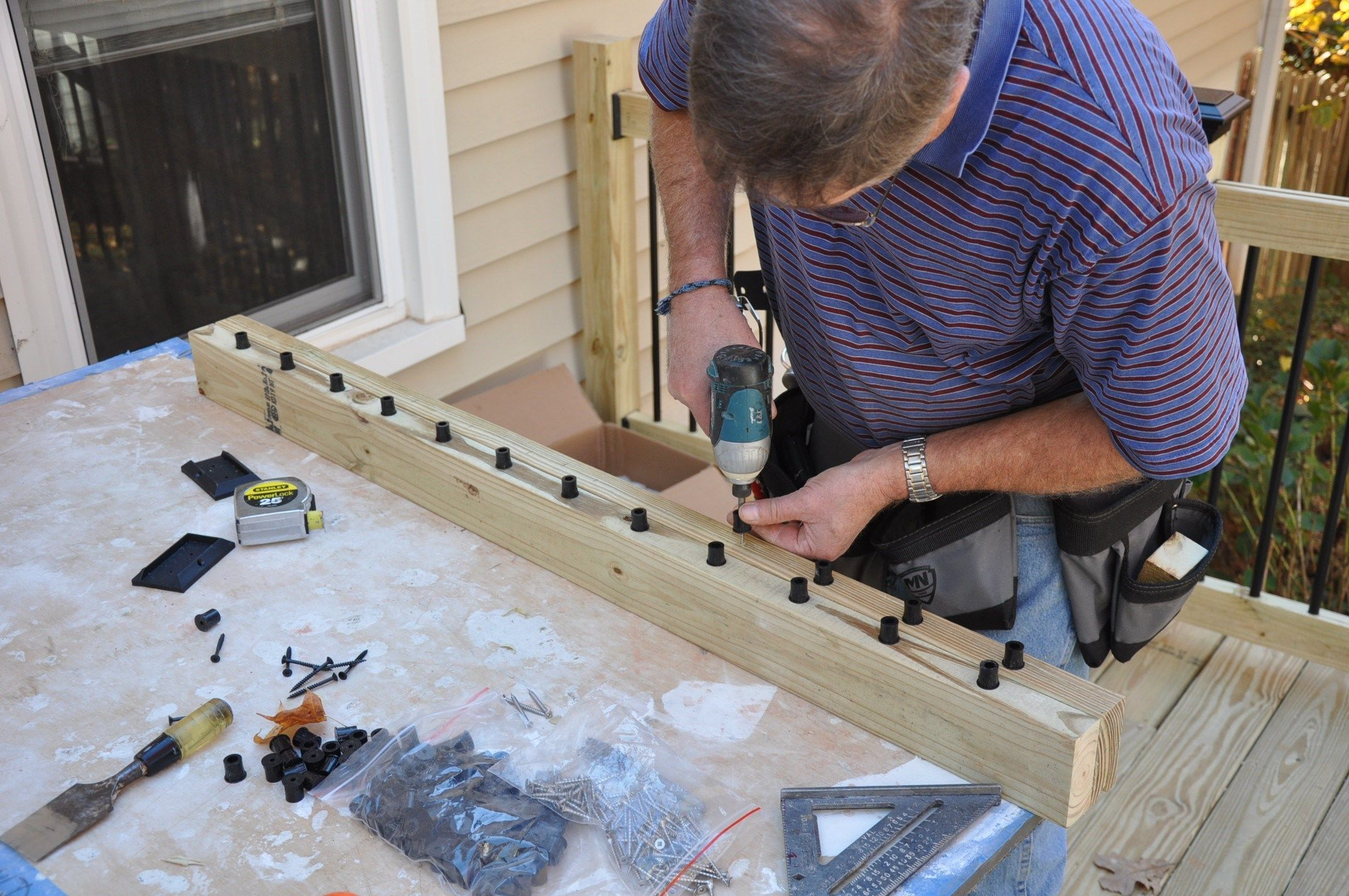 Deck railing balusters for How to install decking