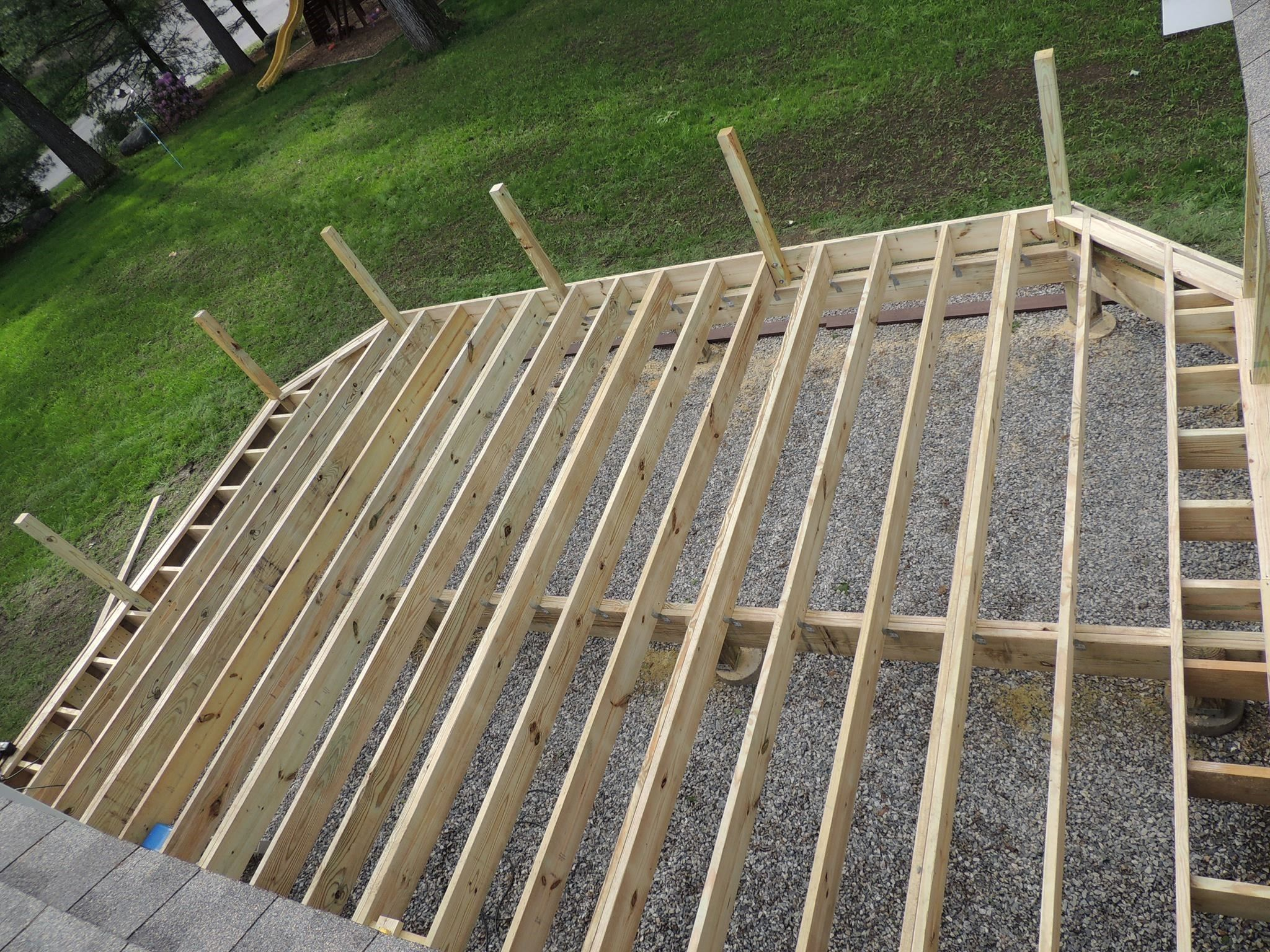 Installing composite decking for Decking framework timber