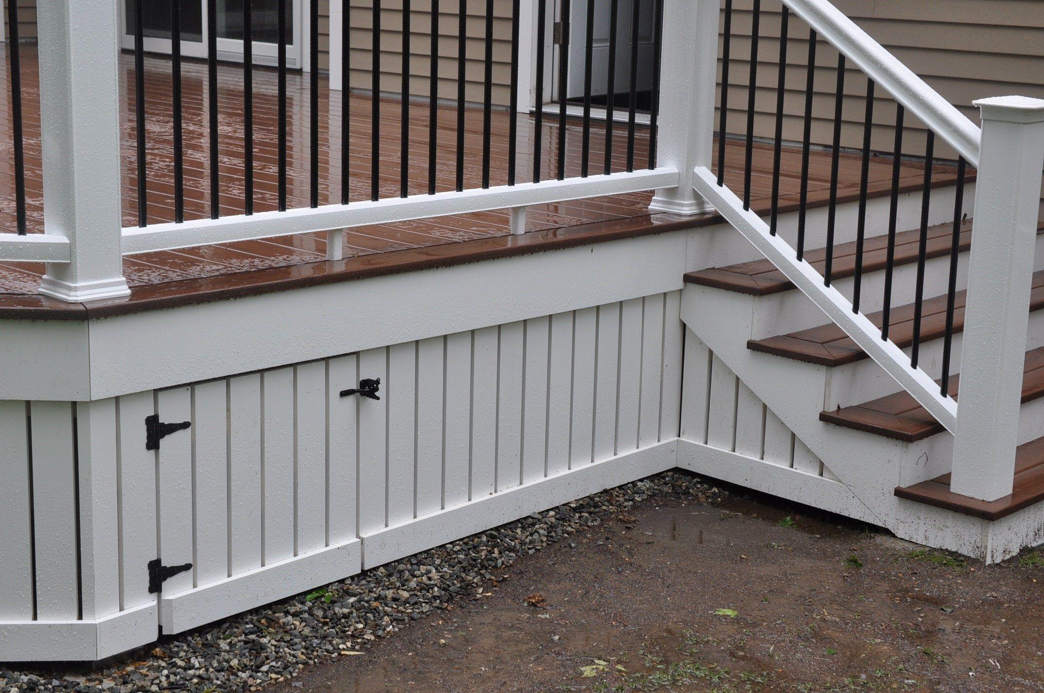 Home Wood Skirting ~ Decks deck skirting and fascia