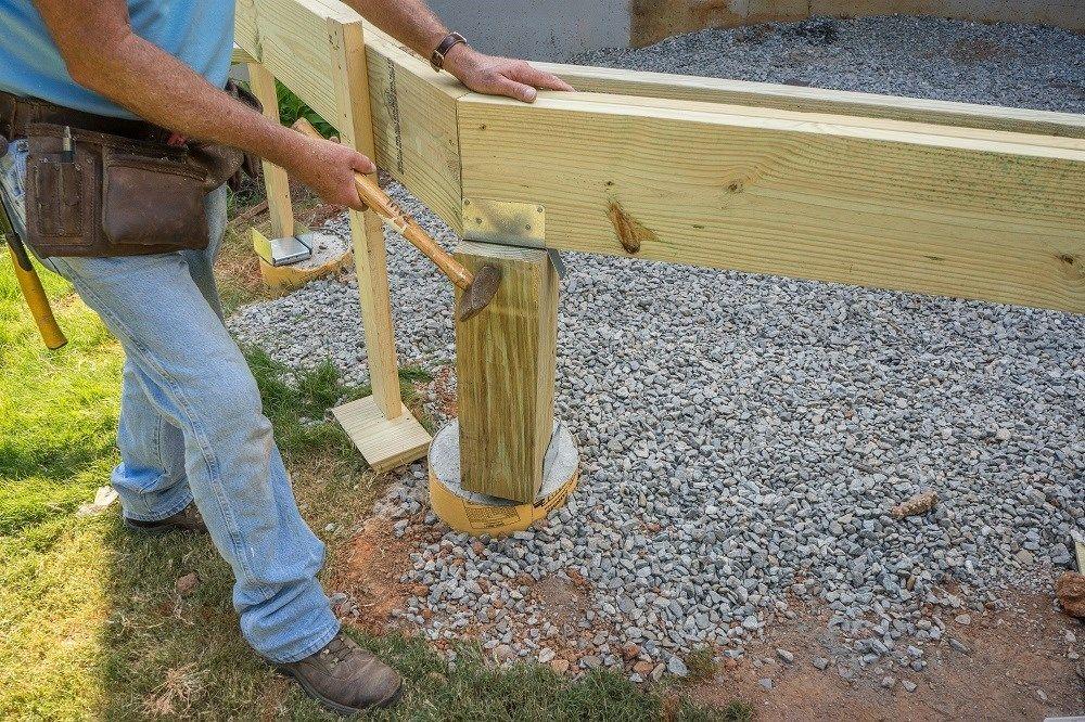 Decks Com Wood Support Post