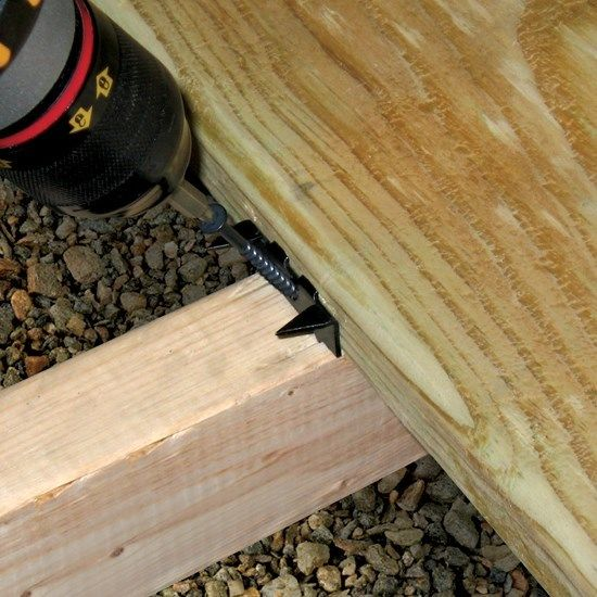 Hidden deck fasteners for Non wood decking boards