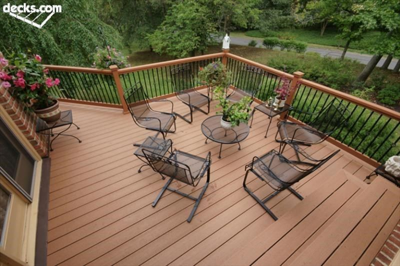 Decking railing types deckstore for Types of balcony