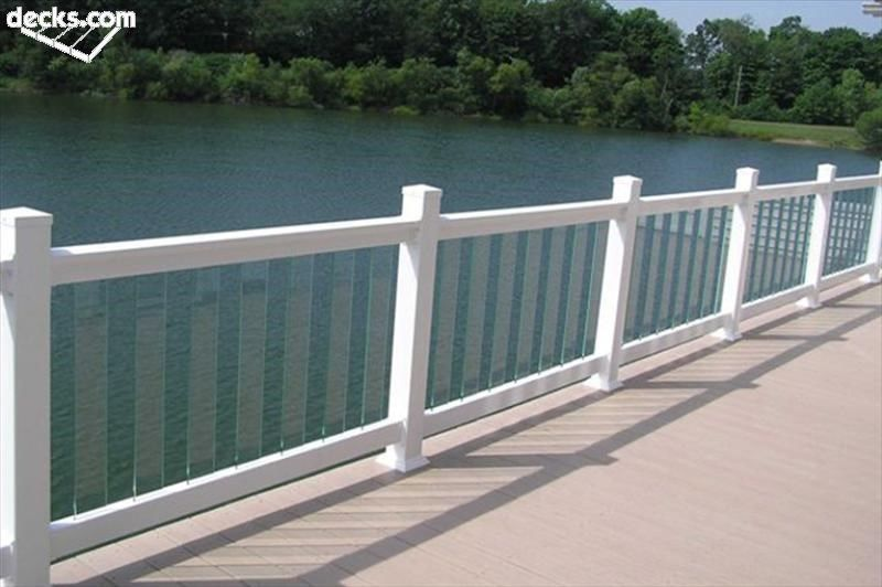 Deck railing designs for Glass balcony railing