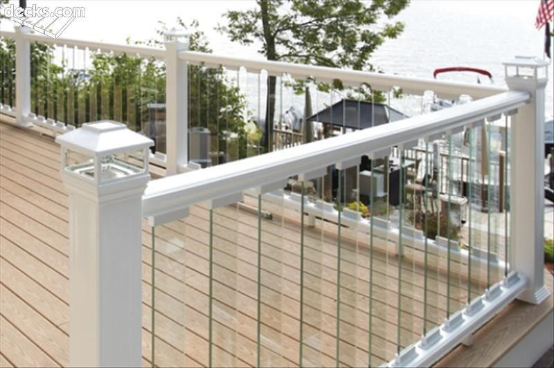 Deck railing designs for Balcony glass railing designs pictures