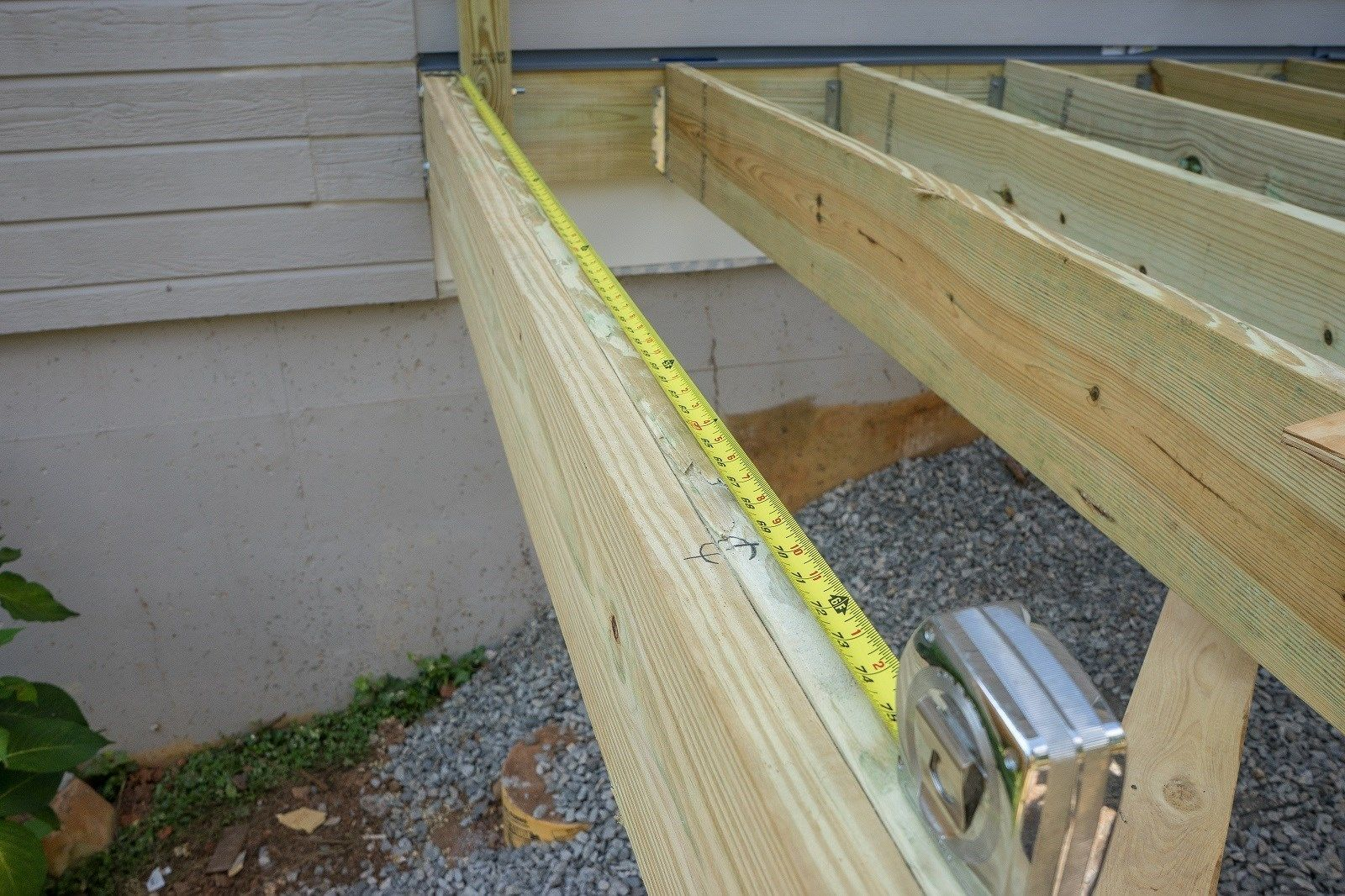 How to install a deck railing - Mark Rail Post Centers