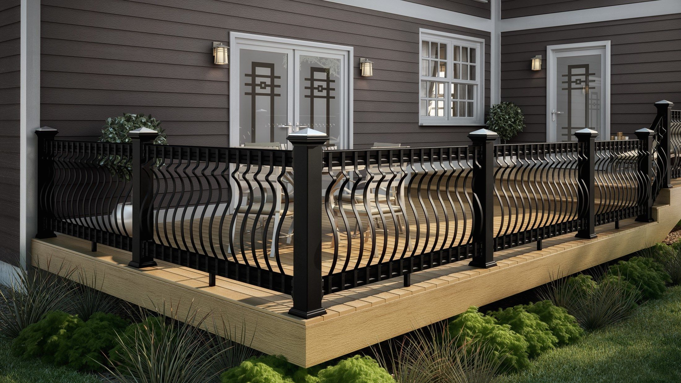 Deckorators Black CXT Architectural Railing