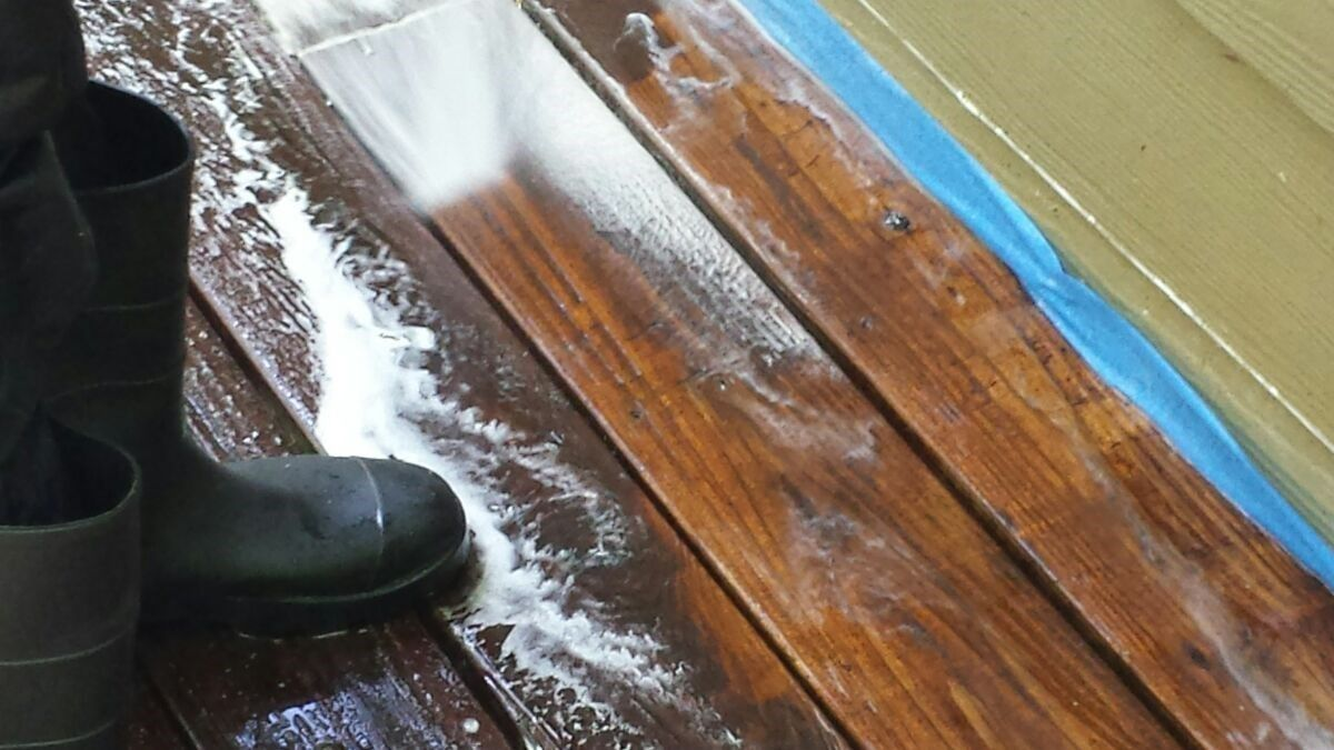 Can You Stain Over Painted Deck