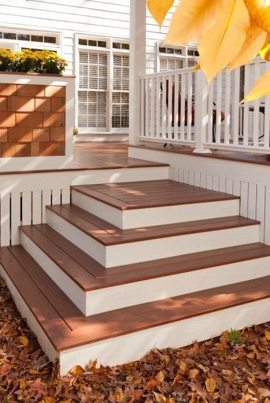 Building box steps and stairs for decks for How to build a low deck