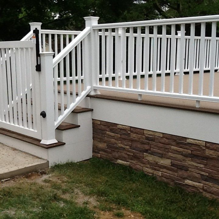 how to build wrap around deck stairs