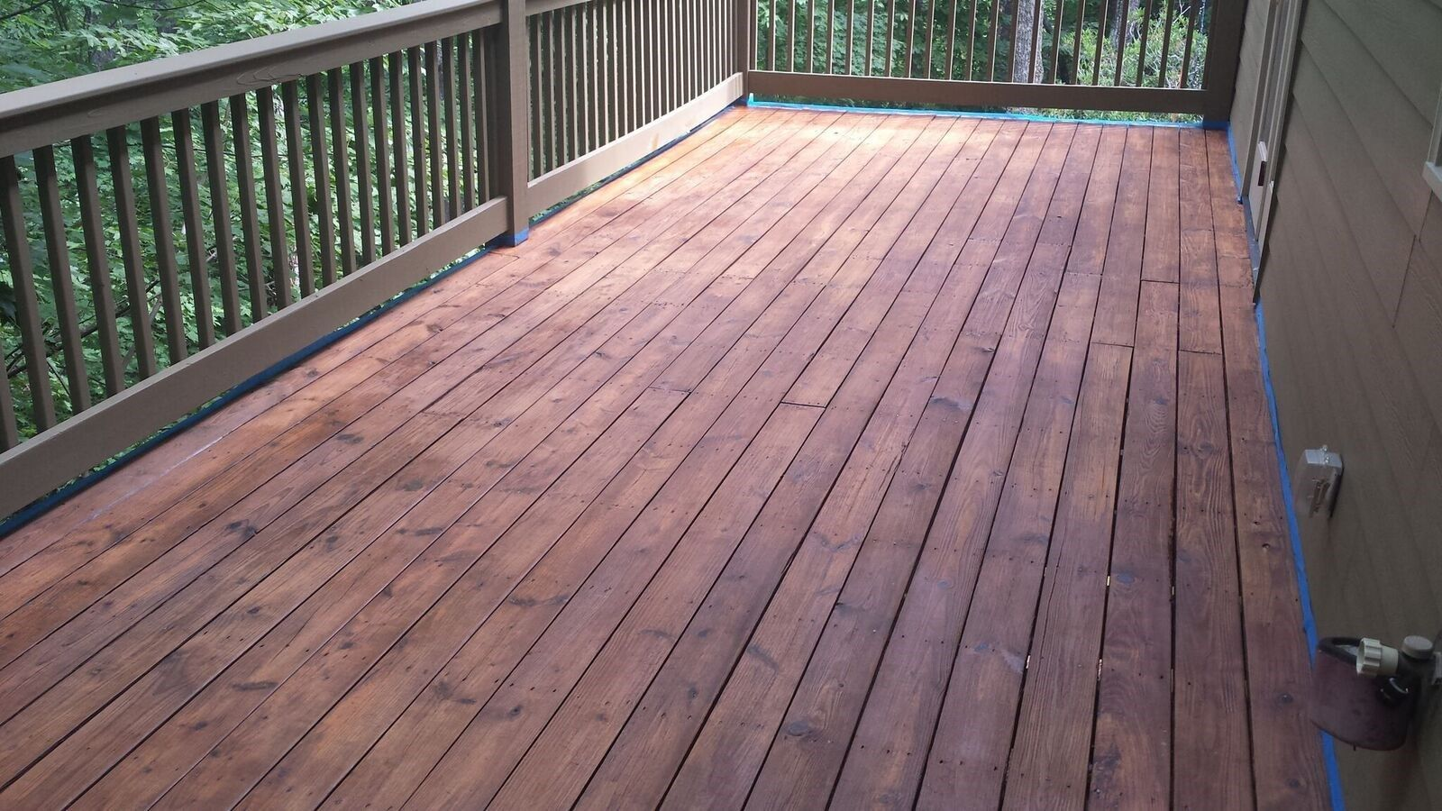 How to stain a deck for Best way to clean concrete floors before staining