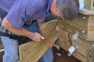 how to build deck stairs with a landing