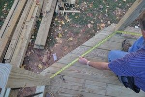 angled corners in a deck frame
