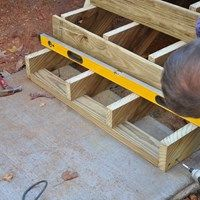 exterior stair riser material installing new deck stairs thumb and