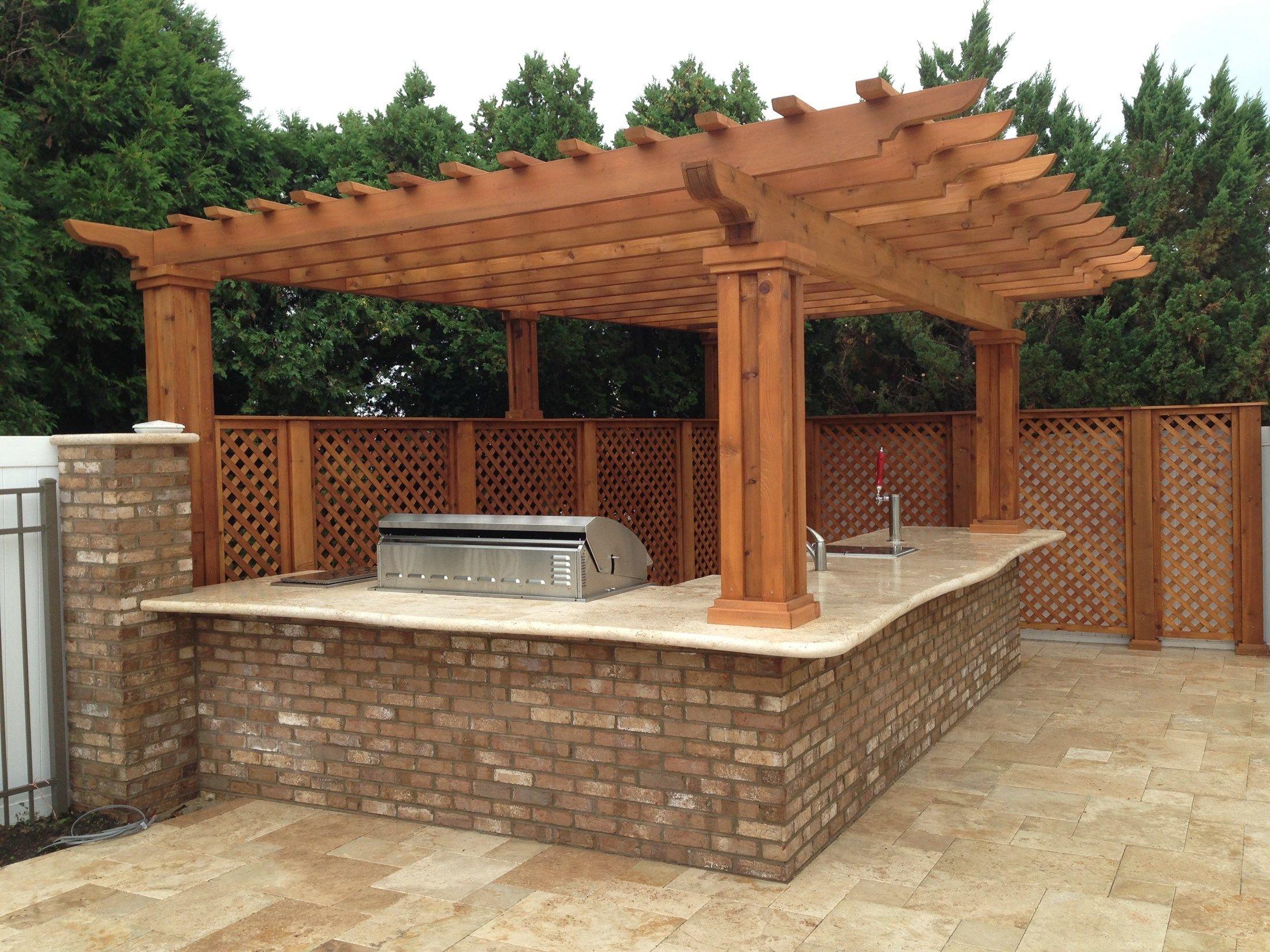 Decks Com Outdoor Kitchen Amp Pergola Picture 1881