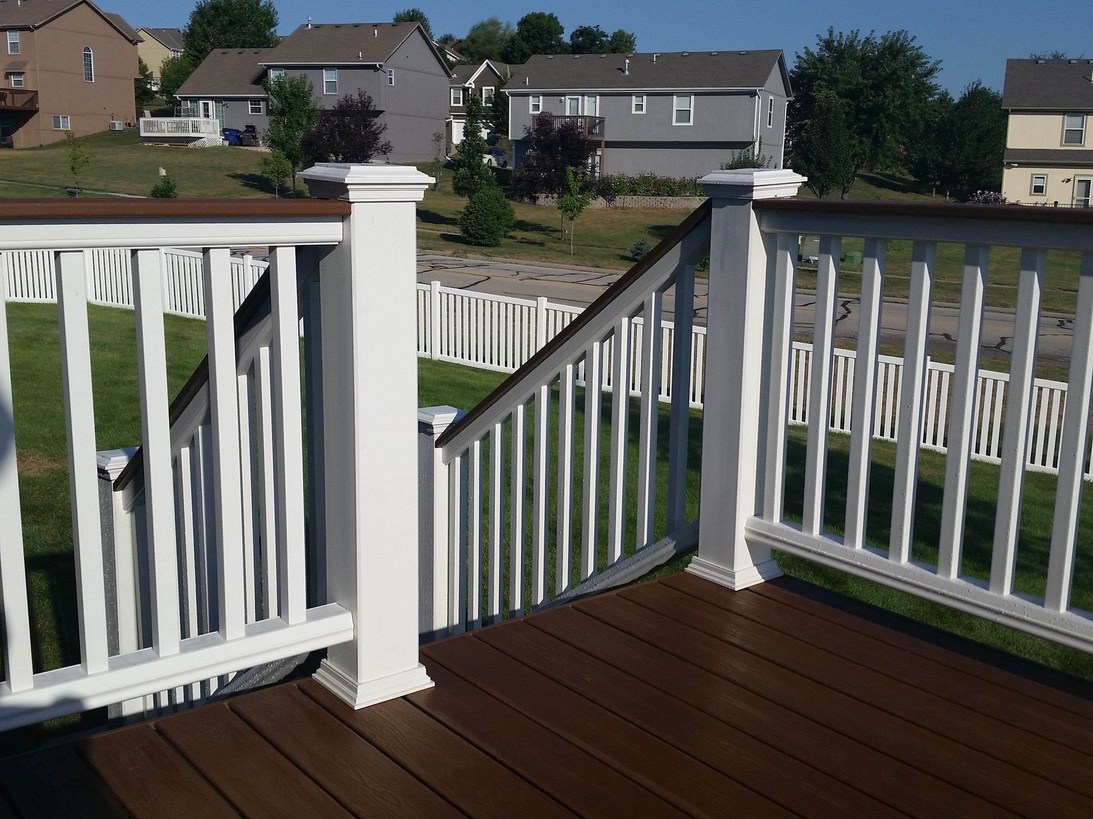 Composite deck and railing picture 6657 for Composite flooring for decks