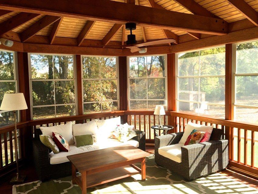 Decks Com Cedar Screen Porch Picture 2045