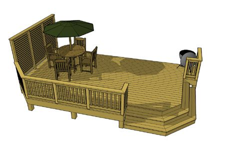 for 10 x 14 deck plans