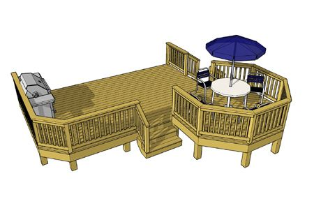 for Octagon deck plans free
