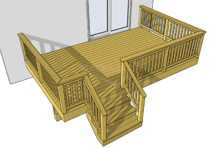 low elevation decks