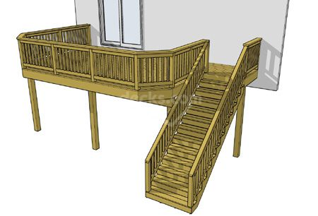High Elevation Decks - Decks.com. Free Plans