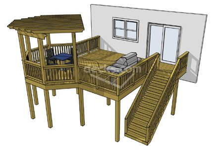 High Elevation Deck Plans House Plans