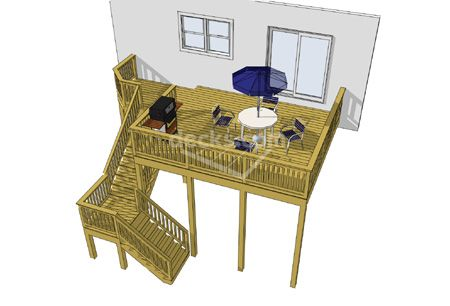Free plans for 2nd story deck plans
