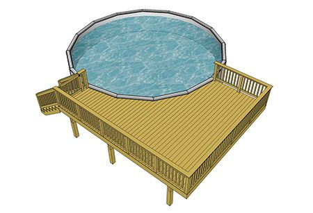 Image Result For In Ground Pool Deck Designs