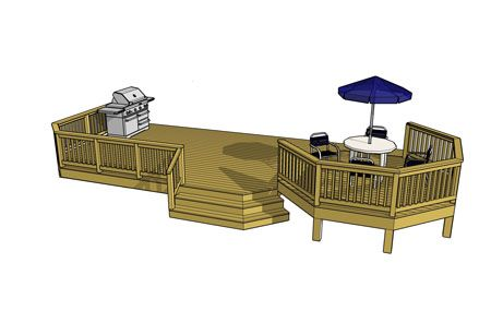 for Low elevation deck plans