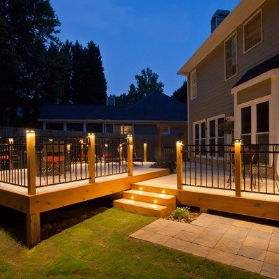 Stone Deck With Metal Railings - Picture 1083