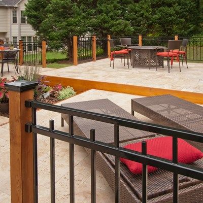 Stone Deck With Metal Railings - Picture 1085