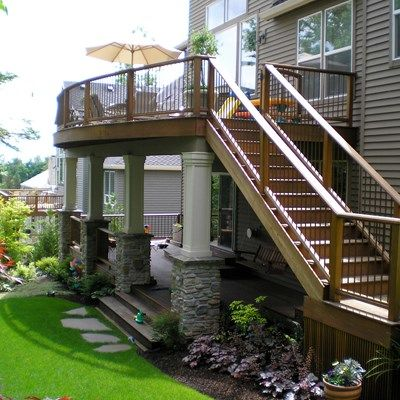 Second Story Deck Ideas Designs Pictures Decks