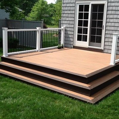 Ground Level Deck Ideas Designs Pictures Decks