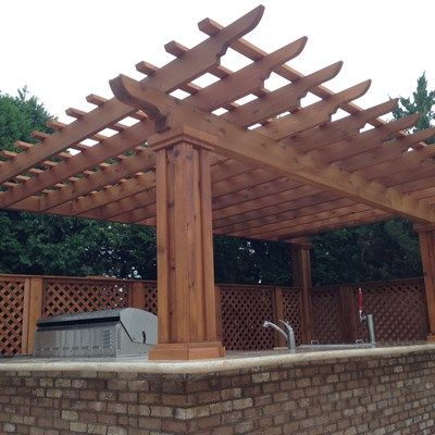 Outdoor Kitchen & Pergola - Picture 1880