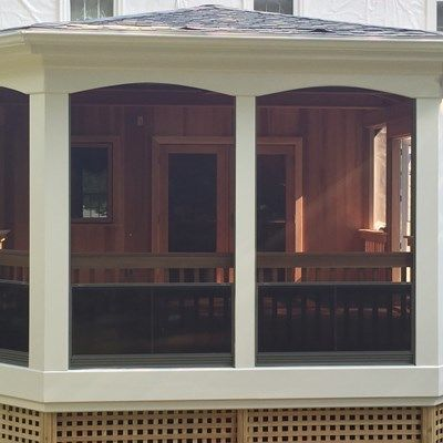 Custom Mahogany Porch - Picture 1955