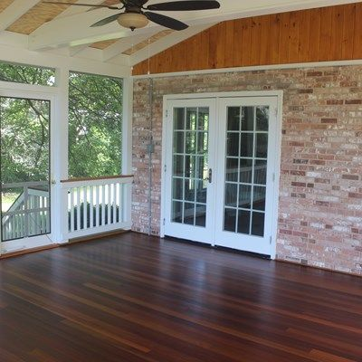 Screen porch, gable roof - Picture 2093