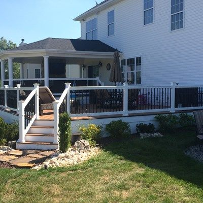Custom Roofed Deck in Monroe NJ - Picture 3222
