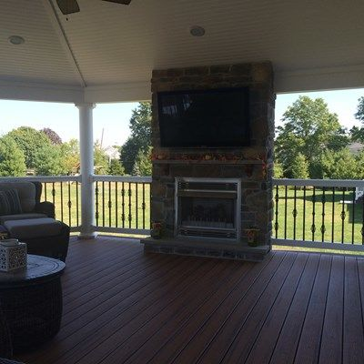 Custom Roofed Deck in Monroe NJ - Picture 3228