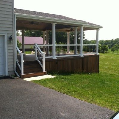 Custom Roofed deck in Upper Freehold NJ - Picture 3233