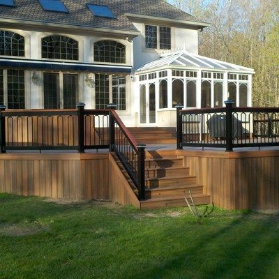 Custom deck in Florham Park N.J. - Picture 3236