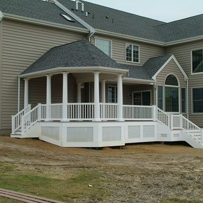 Custom Roofed deck in Upper Freehold NJ - Picture 3245