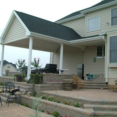 Roof over Paver Patio in Upper Freehold NJ - Picture 3394