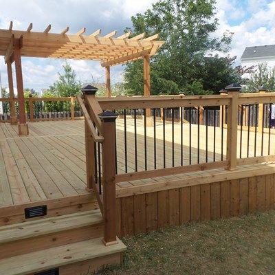 Cedar Deck & Pergola - Picture 3636