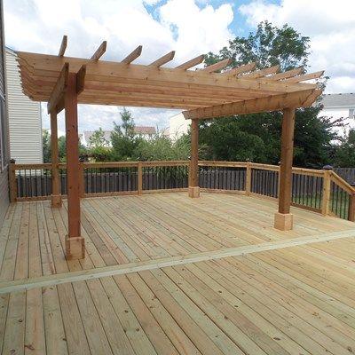 Cedar Deck & Pergola - Picture 3638