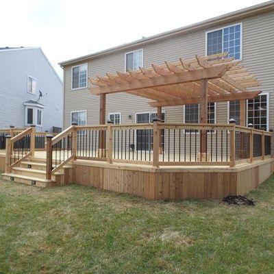 Cedar Deck & Pergola - Picture 3639